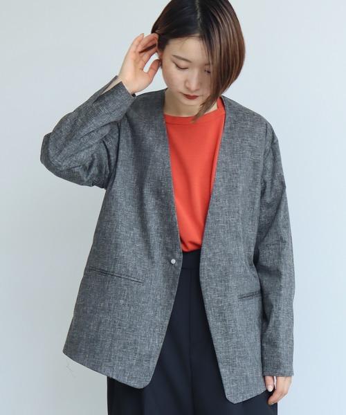 Pe Lキャンバスストレッチ ジャケット ノーカラージャケット Nitca ニトカ のファッション通販 Zozotown