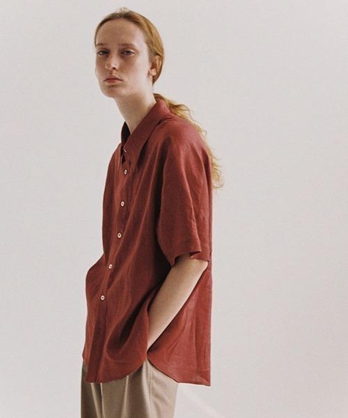 【LeonoraYang】Big pocket linen shirt chw1543