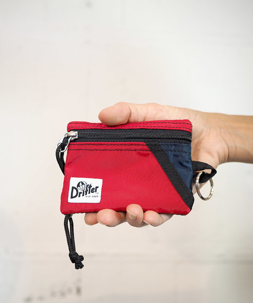 Drifter(ドリフター)の「KEY COIN POUCH/キーコインポーチ(コインケース)」|レッド