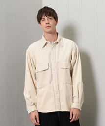 <H>WASHED CORDUROY CPO SHIRT/シャツ
