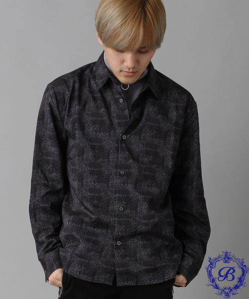 【06 BURNER SELECT】ストレッチバティックプリントレギュラーシャツ