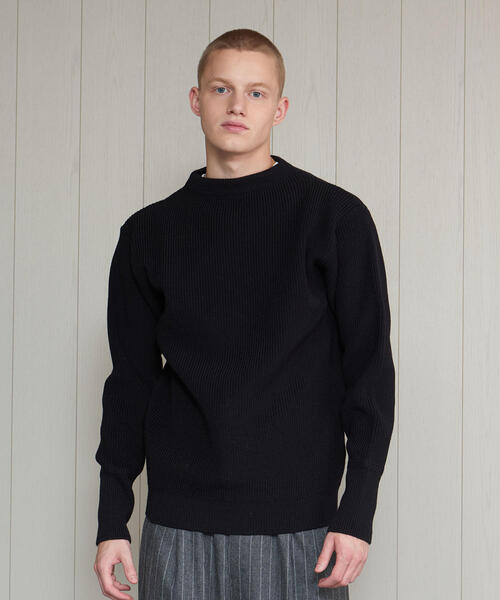 <ANDERSEN-ANDERSEN>7GAUGE CREW NECK KNIT/ニット