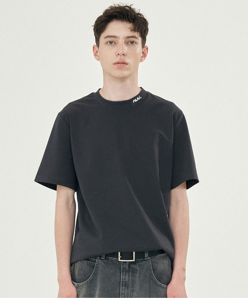 【ADD SEOUL】CUTOUT LOGO TEE / カットアウト ワンポイント ロゴ Tシャツ