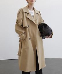 【Fano Studios】【2021SS】Double breasted wide trench coat cb-3 FC21W041ベージュ