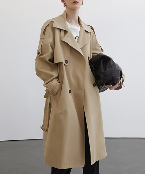 【Fano Studios】【2021SS】Double breasted wide trench coat FC21W041