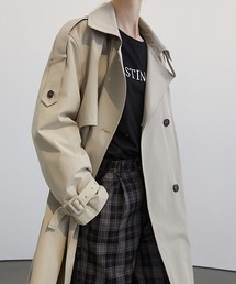 【Fano Studios】【2021SS】Double breasted wide trench coat cb-3 FC21W041ライトグレー