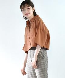 デカポケ半袖シャツオレンジ