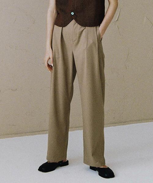 【LeonoraYang】Tuck high-waist pants chw1544