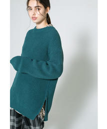<monkey time> PE AZE SIDE ZIP CREWNECK KNIT/ニット