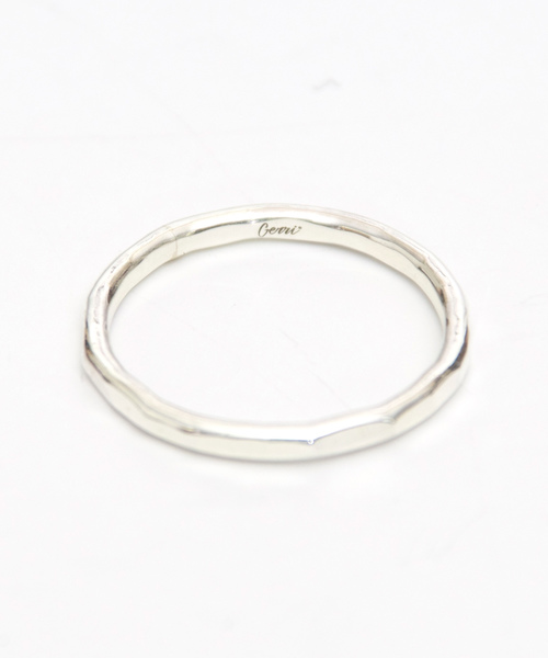 Genri/【crash】Silver Hammered ring