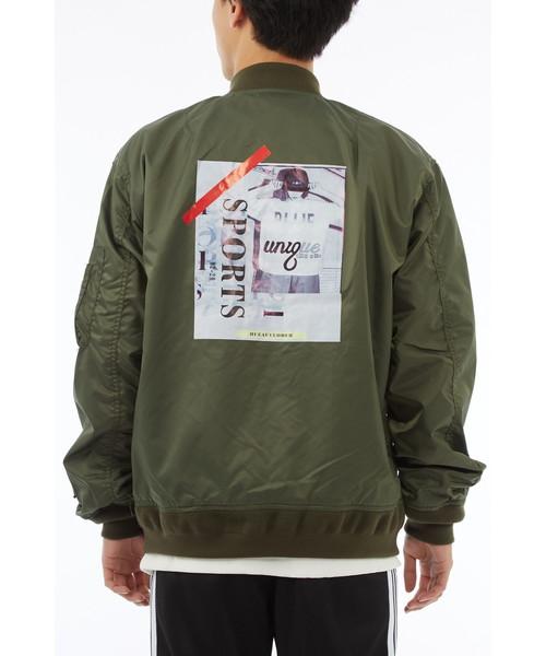 ナイロンデコレーションMA-1ジャケット