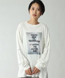 CREOLME(クレオルム)の(CREOLME)フォトプリントロングTシャツ(Tシャツ/カットソー)