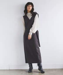 GALLARDAGALANTE(ガリャルダガランテ)のツイードジャンパースカート(ジャンパースカート)