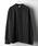 Nilway(ニルウェイ)の「【Nilway】ドレープポリトロバンドカラーシャツ(シャツ/ブラウス)」|ブラック系その他