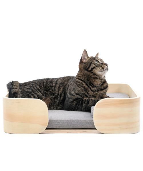 猫用ベッド レクタングル 木製