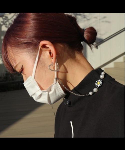 EvaeMob+SALUTE/エバーモブ+サルーテ/別注フラワーパールマスクチェーン(ネックレス)/Flower Pearl Necklace