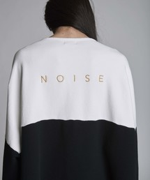 NOISE MAKER(ノイズメーカー)のNOISE刺繍切替ボートネック(第4弾)(スウェット)
