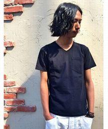 schott(ショット)のSchott/ショット/V NECK POCKET T SHIRT/Vネック  ポケットTシャツ(Tシャツ/カットソー)