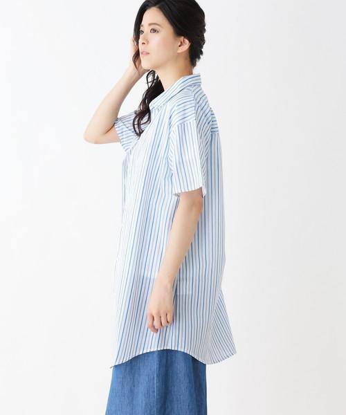 【2点セット】ロングシャツ+ロゴプルオーバー