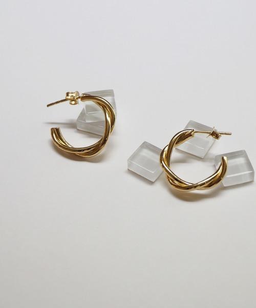 Jenny BY IMMANOEL(ジェニーバイイマノエル)の「silver925 フープピアス(ピアス(両耳用))」|ゴールド