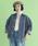 merlot(メルロー)の「ストライプ柄デニムジャケット3101(デニムジャケット)」|ネイビー