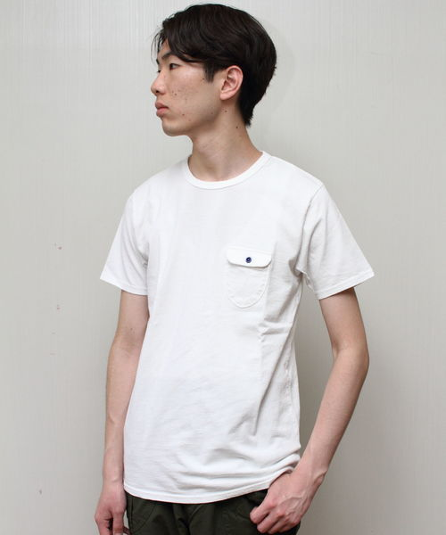 EEL / イール 別注 陶器ボタンのポケT ポケットTシャツ