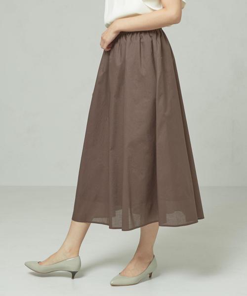 <closet story>□Cボイルローン ロングスカート -手洗い可能-