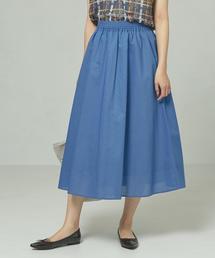 【予約】<closet story>□Cボイルローン ロングスカート -手洗い可能-