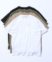 USAコットンヘビーウェイトクルーネックポケットTシャツ