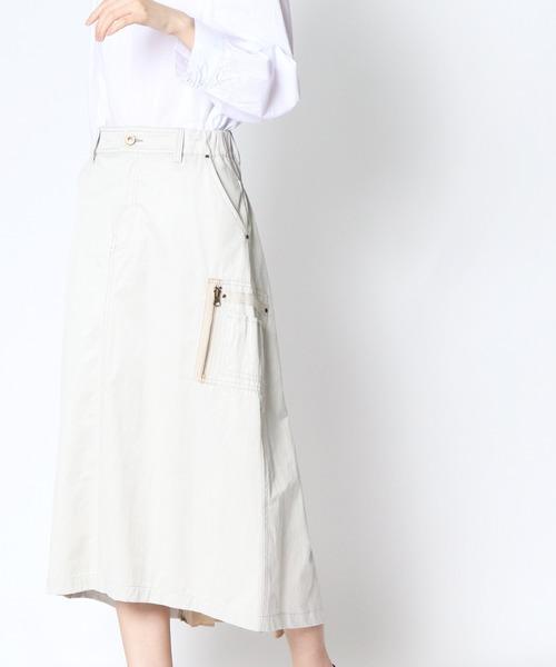 【Pauline Bleu/ポリーヌブロー】サイドドロストスカート 81110 POR