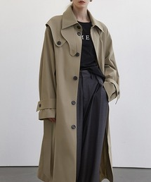 【Fano Studios】【2021SS】Single breasted wide trench coat cb-3 FC21W043ベージュ