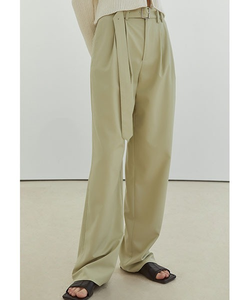 【Fano Studios】【2021SS】Buckle belt loose slacks FX21K007