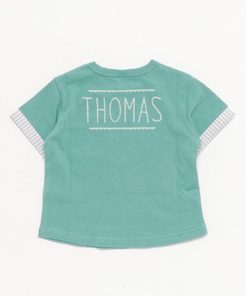 【トーマス】ボーダーポケット半袖Tシャツ