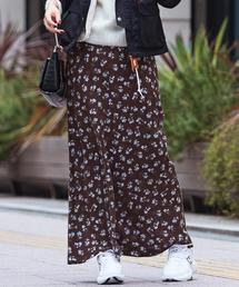BY∴ フラワープリントマキシスカート