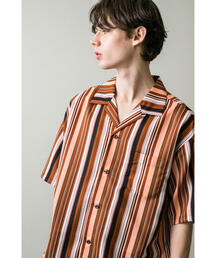 <monkey time> GRGT MULTI STRIPE OPEN SHIRT/シャツ