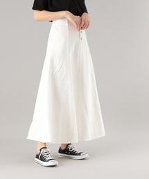 PAGEBOY(ページボーイ)のキリカエデニムAラインスカート(デニムスカート)