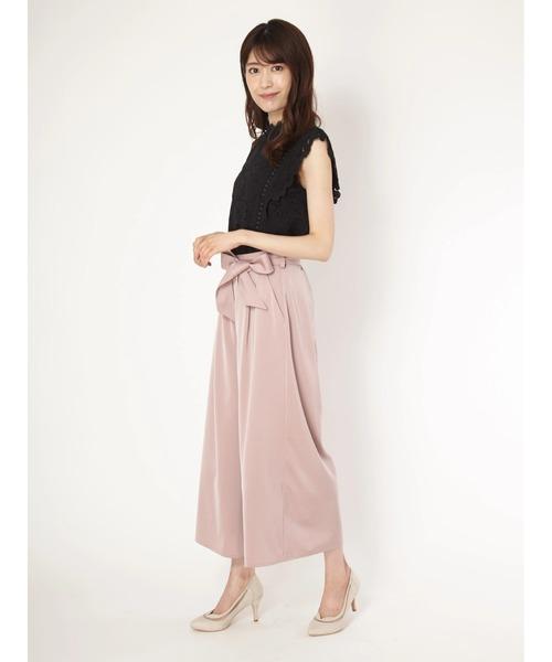 宅配便配送 スタンドレースブラウス×サテンパンツセットアップ(ドレス) Fabulous Angela(ファビュラスアンジェラ)のファッション通販, felice vita:6d876904 --- hausundgartentipps.de