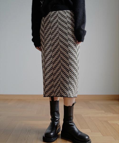 【chuclla】【2020/AW】Textured knit skirt chw1416