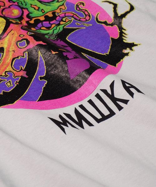 【MISHKA】インベーダー グラフィックデザインロゴプリントTシャツ