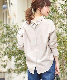 le.coeur blanc(ルクールブラン)のバックシャン2wayビッグシャツ(シャツ/ブラウス)