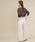 cuff(カフ)の「強撚綿 透かし花柄 ジャガード プルオーバー(ニット/セーター)」|詳細画像