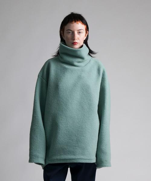 お得セット 【my beautiful landlet】 blending knit high neck sweater, Toledo 058c4264