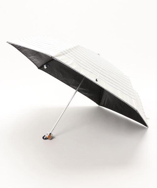 晴雨兼用折りたたみ傘 'ポニー ボーダー'