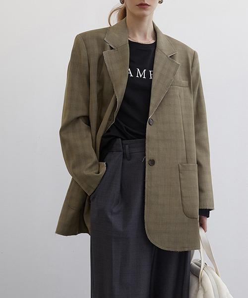 【Fano Studios】【2021SS 先行予約】2-button plaid tailored jacket FC21W046