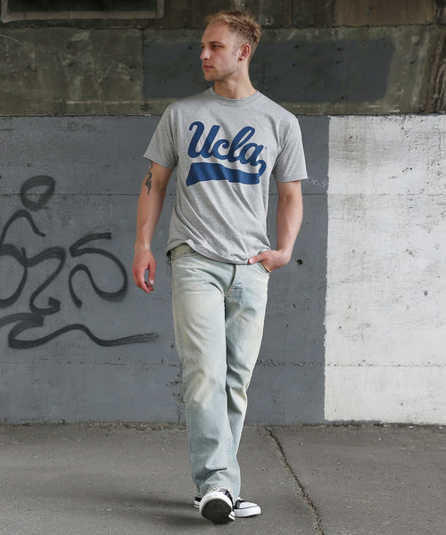 """UCLA 6.2oz 丸胴""""UCLA""""プリントT"""
