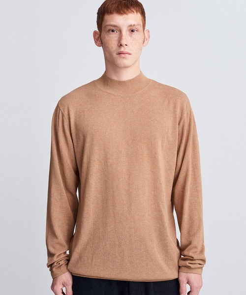 Sean Crepe Mock Neck Sweater