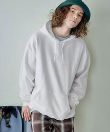 GILDAN/ギルダン 裏起毛 オーバーサイズ パーカーホワイト