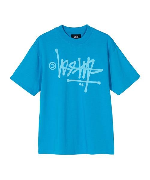 STUSSY(ステューシー)の「Oversized Flip Tee(Tシャツ/カットソー)」|スカイブルー
