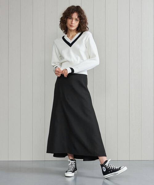 <H>BACK FLARE SKIRT/スカート