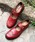 Marie-Louise(マリ−・ルイ−ズ)の「【Marie-Louise/マリールイーズ】ウィングチップストラップシューズ/#MLS-48L(ドレスシューズ)」|レッド